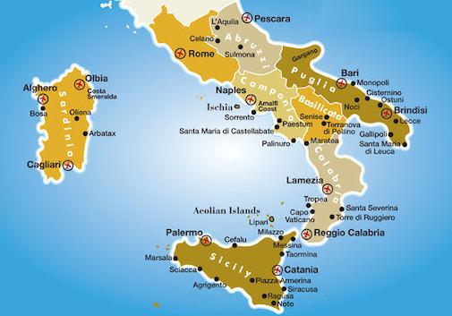 南部及岛屿