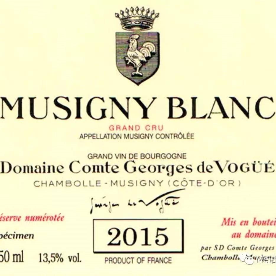 22年的等待,22年的谦卑 - 夜丘终于重拾它唯一的白酒特级园 - Domaine Comte Georges de Vogüé Musigny Blanc 2015即将问世,仅2277瓶!
