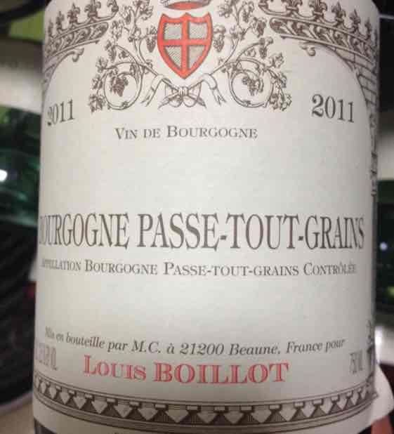 路易斯伯奕乐勃艮第帕斯图冈产区干红Domaine Louis Boillot Bourgogne Passe tout grains
