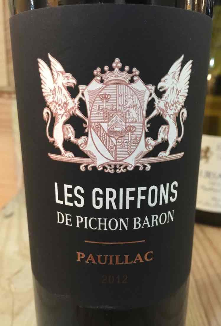 碧尚男爵庄园副牌干红Les Griffons de Pichon Baron
