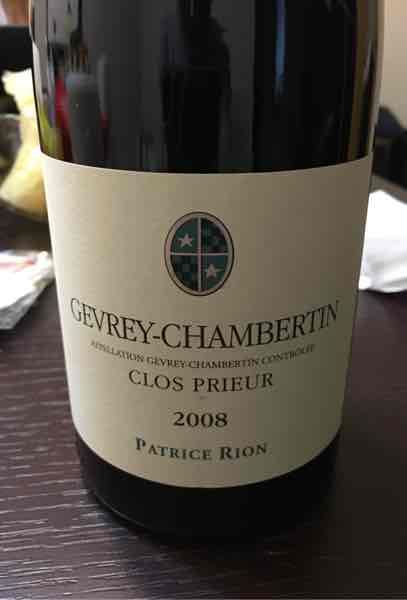 Domaine Patrice Rion Gevrey-Chambertin Clos Prieur
