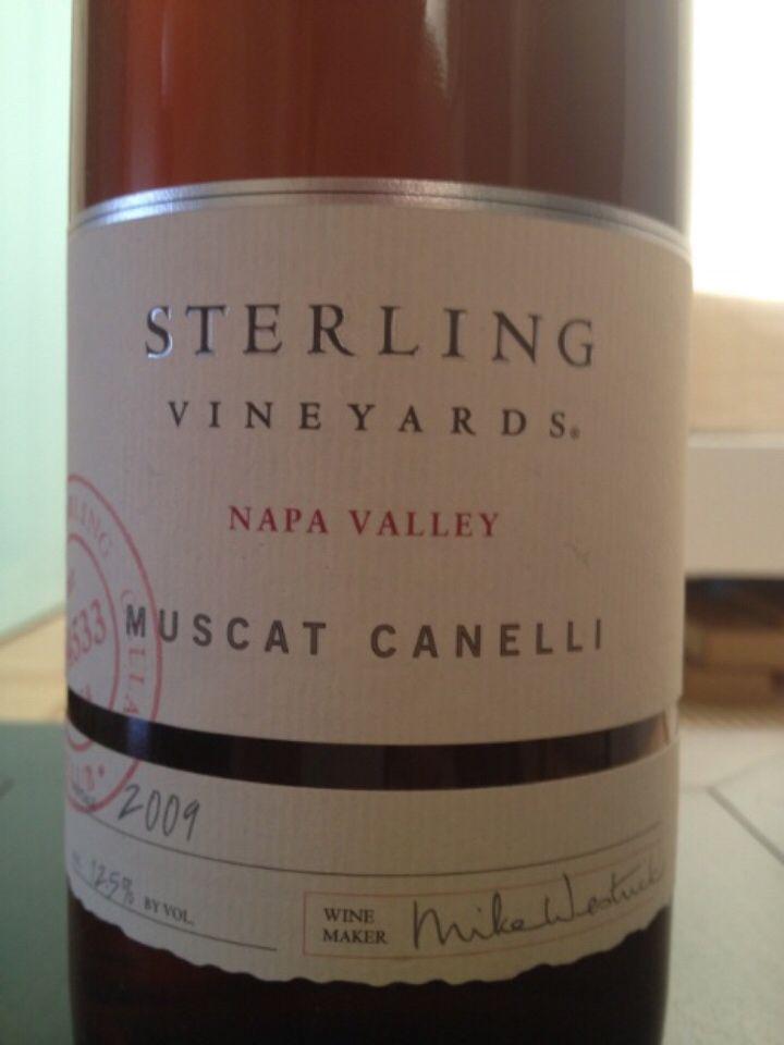 史特林白麝香干白Sterling Vineyards Muscat Canelli