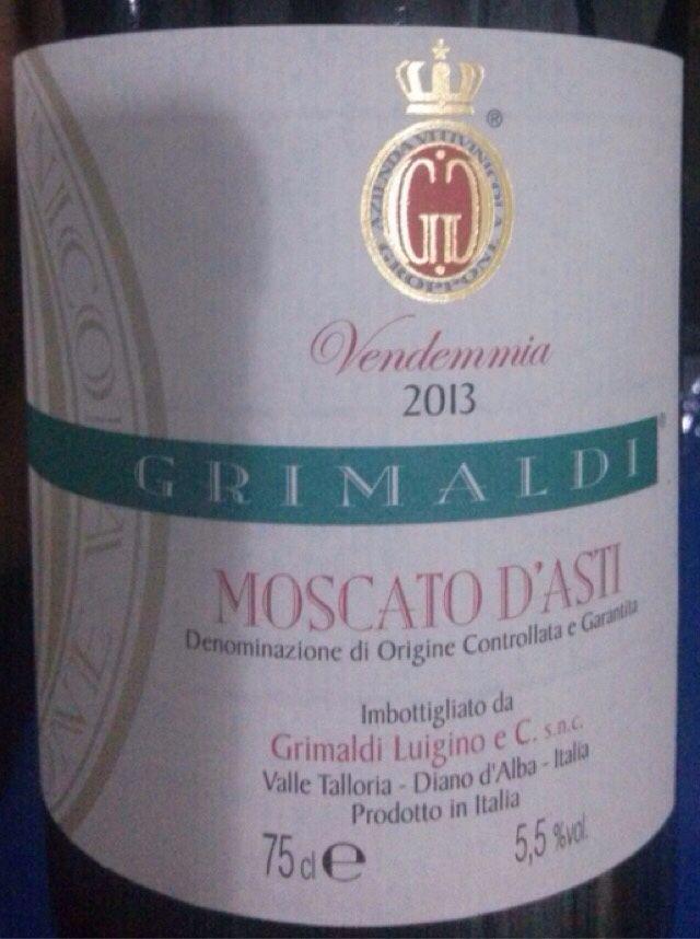 极露慕斯卡托阿斯蒂起泡Grimaldi Luigino Moscato d Asti