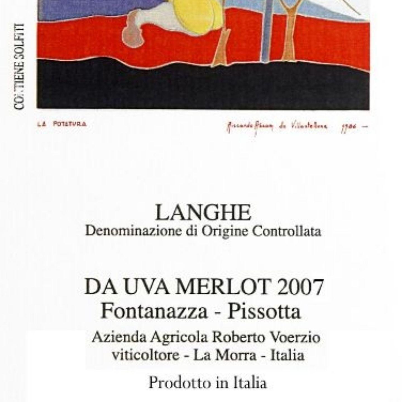 沃奇奥芳塔比烁园梅洛干红Roberto Voerzio Da Uva Merlot Vigneti Fontanazza-Pissota