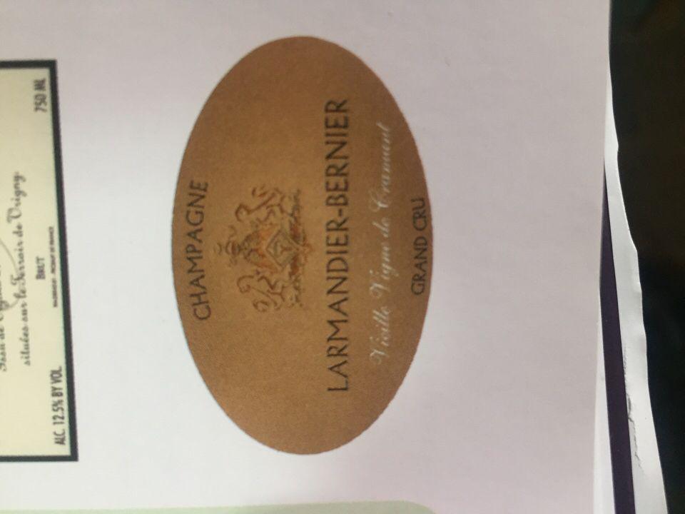 伯尼尔白中白一级园绝干型香槟Larmandier-Bernier Blanc de Blancs Premier Cru Extra Brut