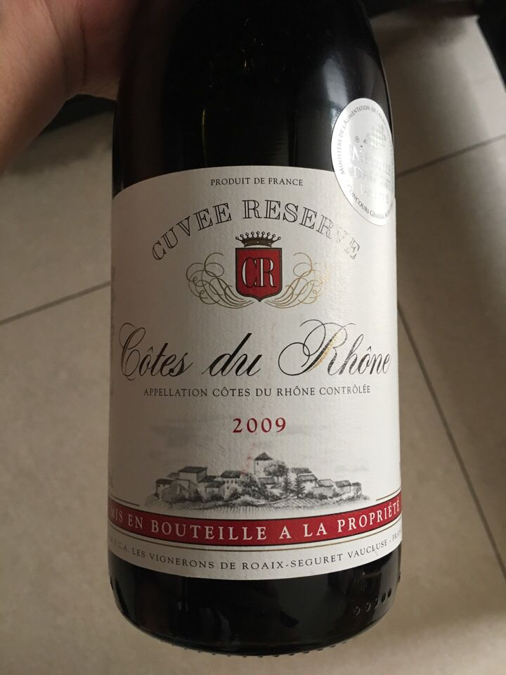 拉高特希酒庄罗纳河谷特酿干红Cotes Du Rhone Red Cuvee Reserve