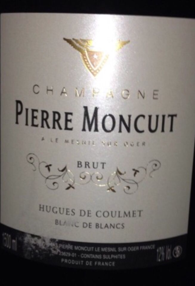 蒙库特酒庄雨果白中白干型香槟Pierre Moncuit Cuvee Hugues de Coulmet Blanc de Blancs Brut