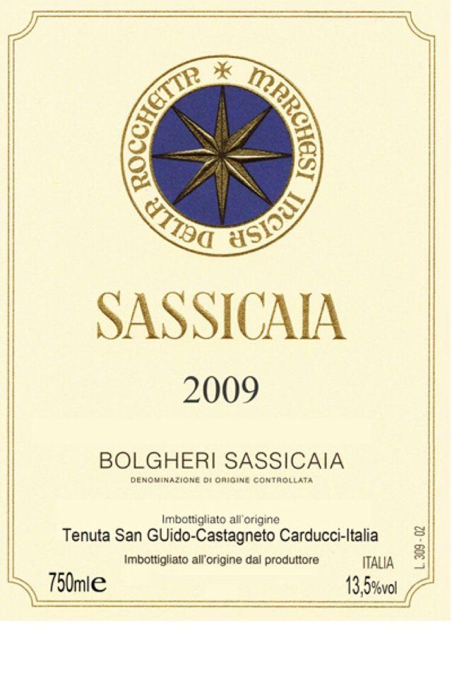 西施佳雅干红Tenuta San Guido Sassicaia