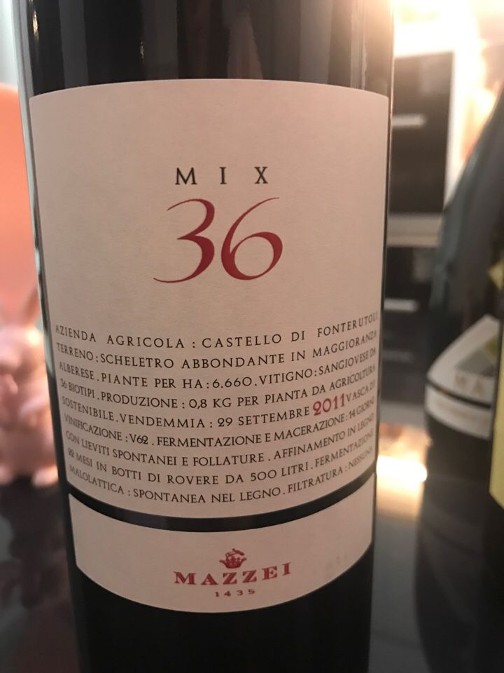 马泽世家凤都混酿36干红Mazzei Castello di Fonterutoli Mix 36