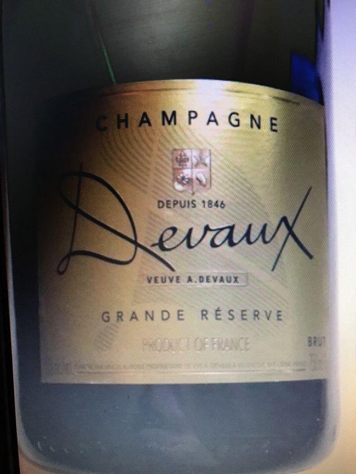 德沃特级珍藏干型香槟Veuve A. Devaux Grande Reserve Brut