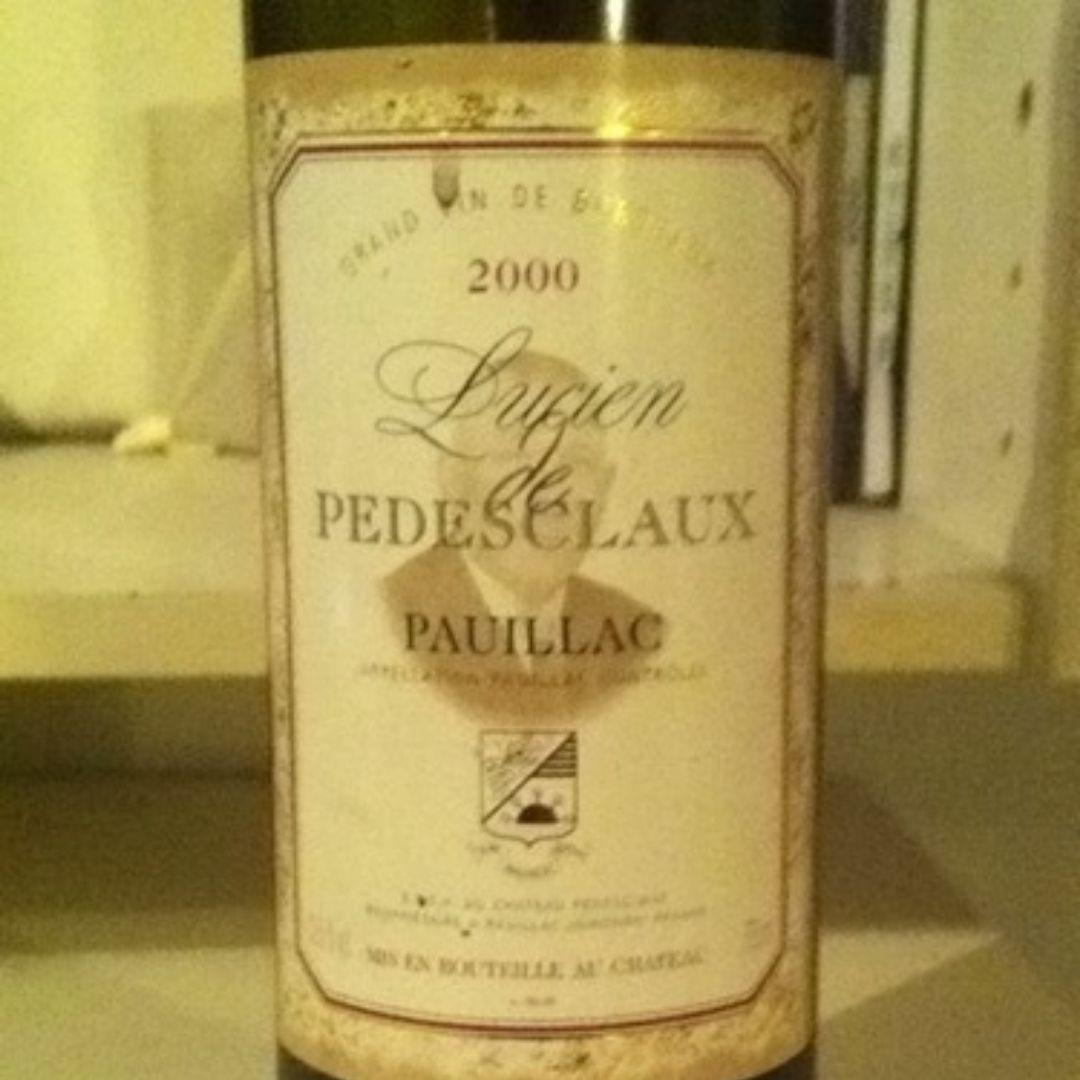 百德诗歌副牌干红Chateau Pedesclaux Lucien de Pedesclaux
