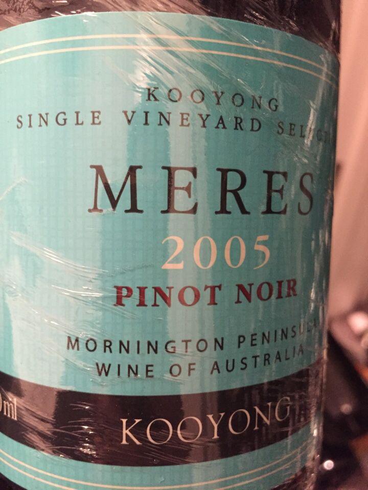 珀翡库扬表大海黑皮诺干红Port Phillip Estate Kooyong Meres Pinot Noir