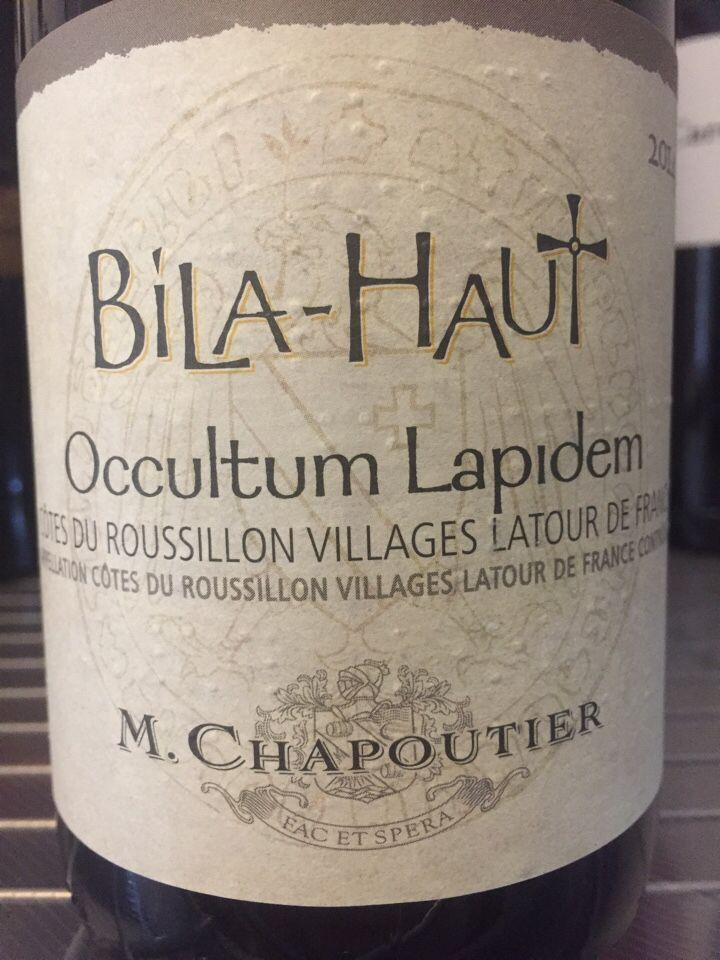莎普蒂尔奥拉丹干红M. Chapoutier Occultum Lapidem