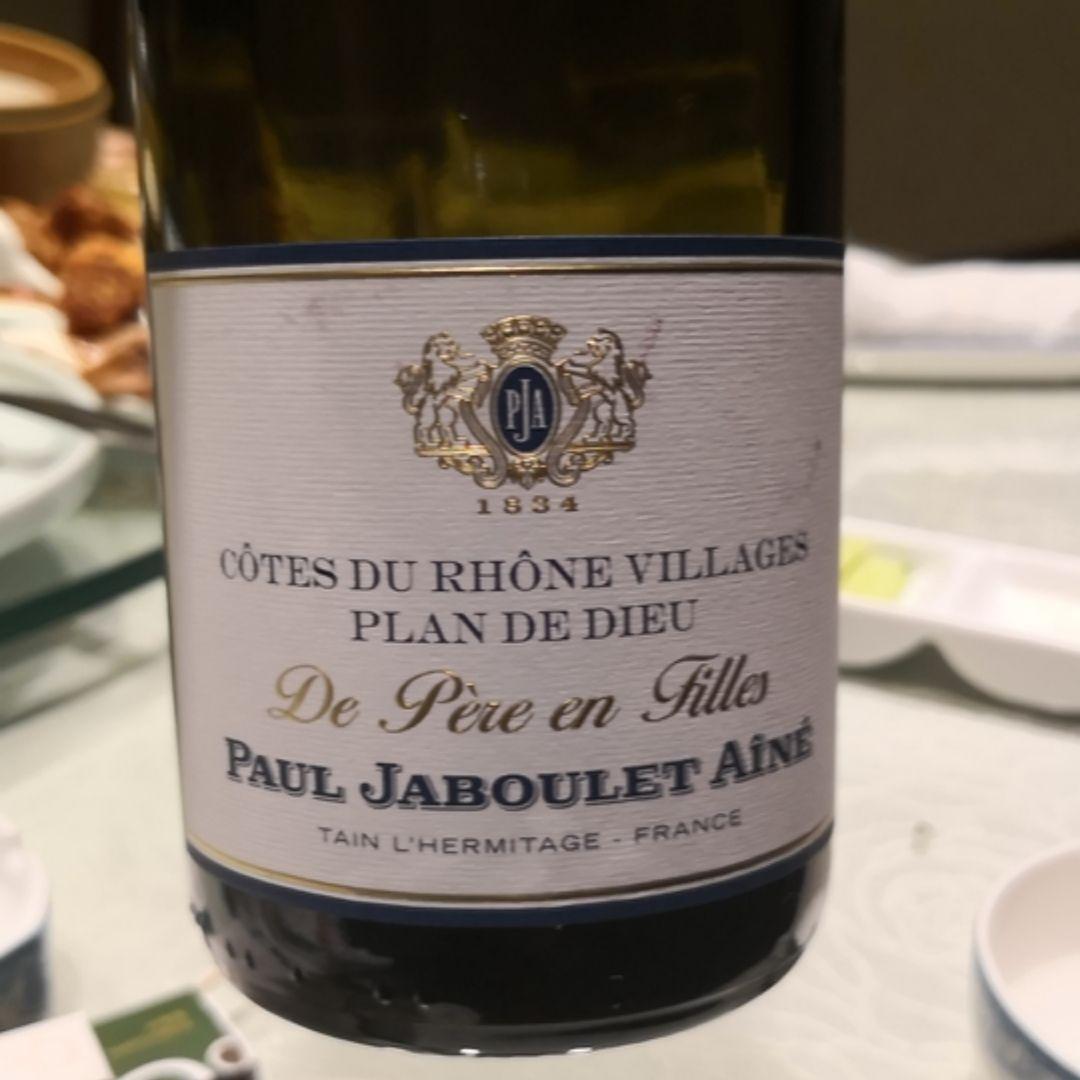 嘉伯乐皮尔父子园上帝之计划干红Paul Jaboulet Aine Domaine de Pere et Fille Plan de Dieu Cotes du Rhone Villages