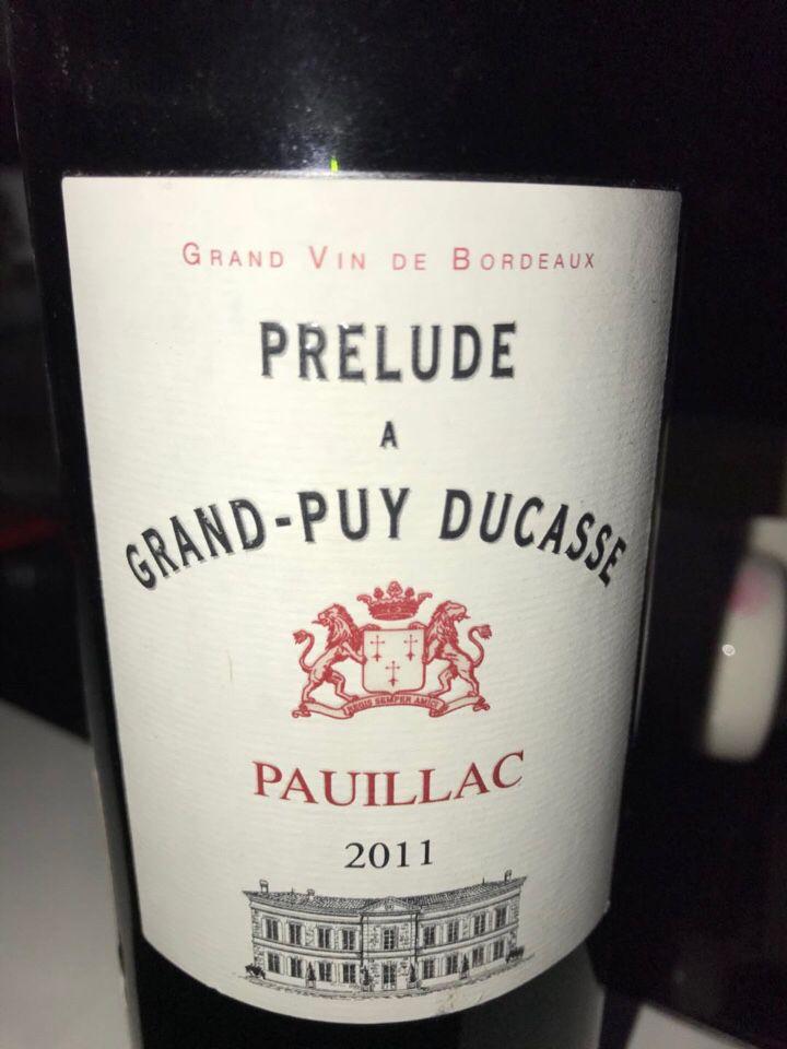 杜卡斯酒庄副牌干红Prelude a Grand-Puy Ducasse