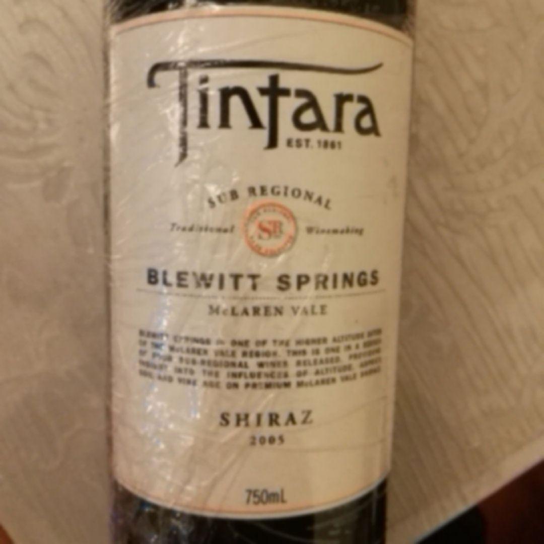 添达拿布拉维之春设拉子干红Tintara Blewitt Springs Shiraz