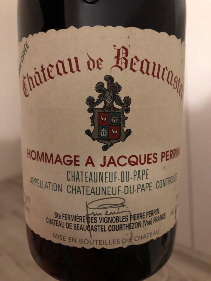 博卡斯特尔雅克佩兰干红Chateau de Beaucastel Hommage a Jacques Perrin