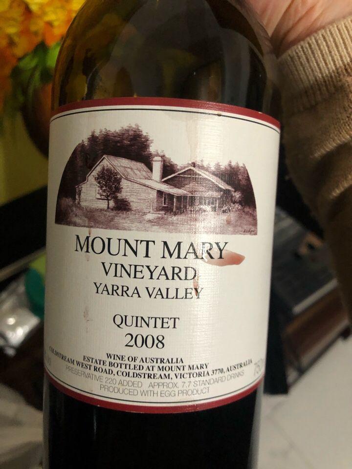 玛丽山卡本内干红Mount Mary Vineyard Cabernets