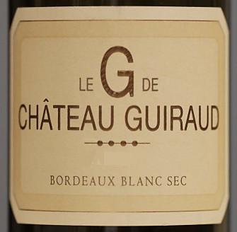 芝路酒庄干白葡萄酒Le G de Chateau Guiraud