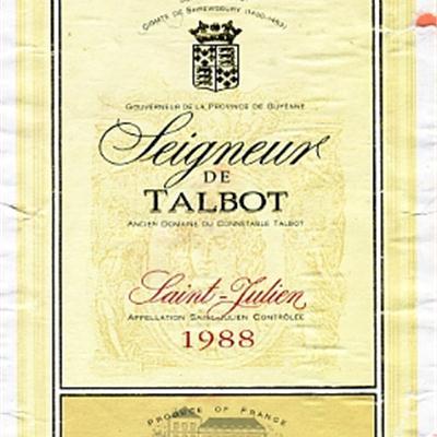 大宝领主干红Seigneur de Talbot