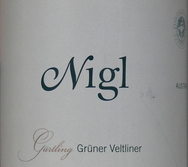 尼玖绿维特利纳歌特琳干白Nigl Gruner Veltliner Gartling