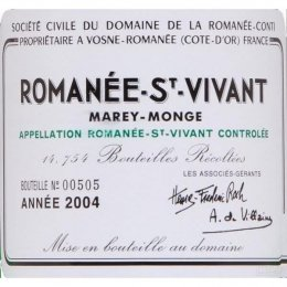 罗曼尼·康帝罗曼尼-圣-维望园干红Domaine de La Romanee-Conti Romanee-Saint-Vivant