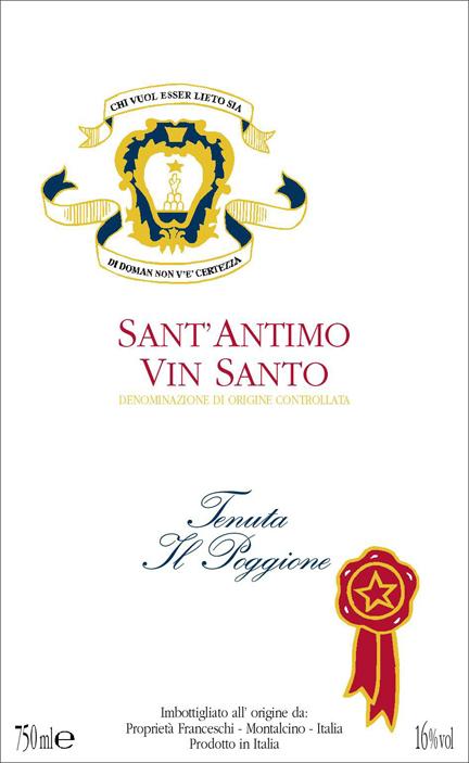 波吉欧桑托干白Tenuta Il Poggione Vin Santo Sant Antimo