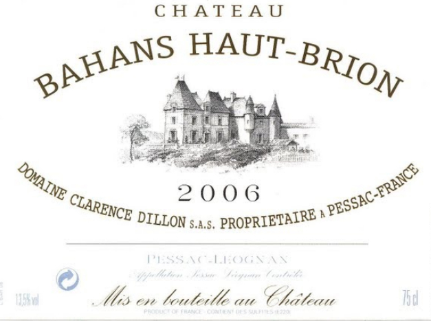 百安奥比良干红Chateau Bahans Haut-Brion