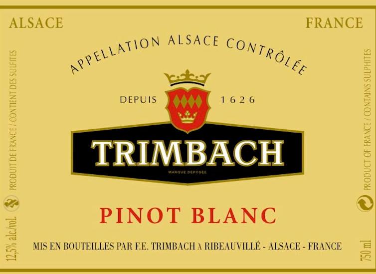 婷芭克世家白皮诺干白Trimbach Pinot Blanc