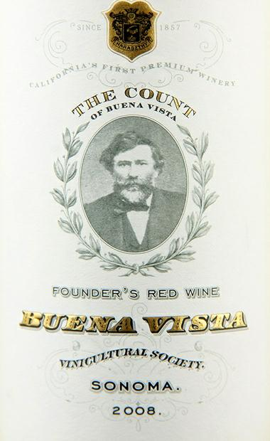 维斯塔特级干红Buena Vista Winery The Count Founder's Red