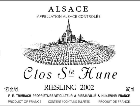 婷芭克世家圣桅楼园雷司令干白Trimbach Clos Sainte-Hune Riesling