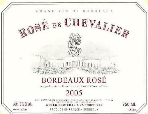 骑士庄园桃红Domaine de Chevalier Le Rose de Chevalier