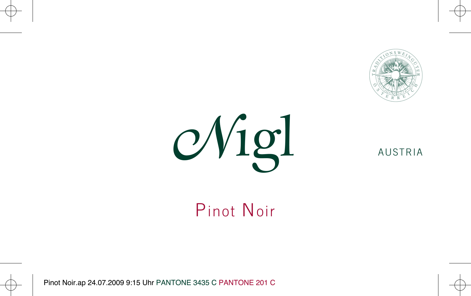 尼玖黑皮诺干红Weingut Nigl Pinot Noir