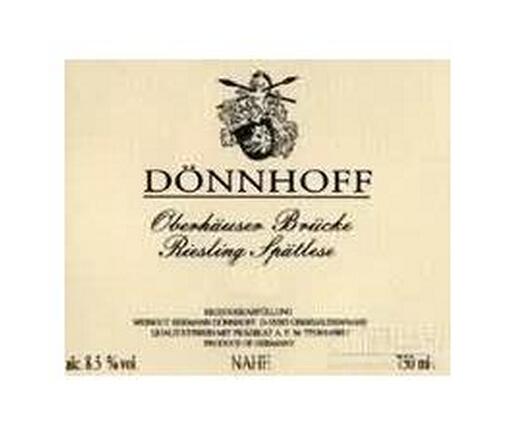 杜荷夫奥伯豪塞布鲁克雷司令迟摘甜白Weingut Donnhoff Oberhauser Brucke Riesling Spatlese