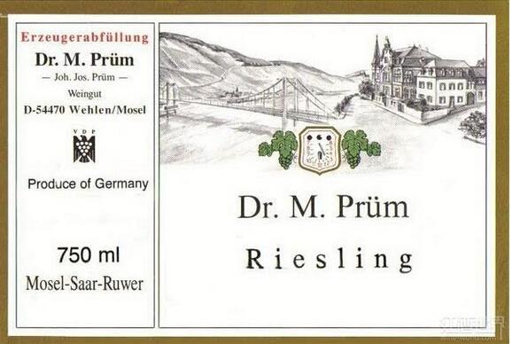 普朗曼弗雷德博士雷司令干白Joh. Jos. Prum Dr. M. Prum Riesling