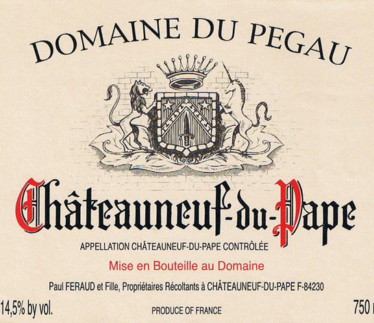 佩高罗兰思特酿干红Domaine du Pegau Cuvee Laurence