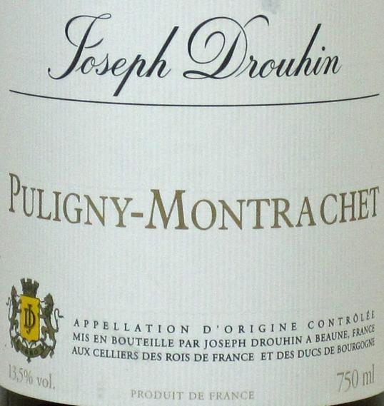 约瑟夫杜鲁安宝普里尼-蒙哈榭干白Joseph Drouhin Puligny Montrachet