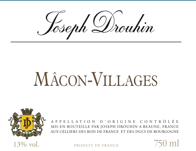 约瑟夫杜鲁安马孔村干白Joseph Drouhin Macon-Villages