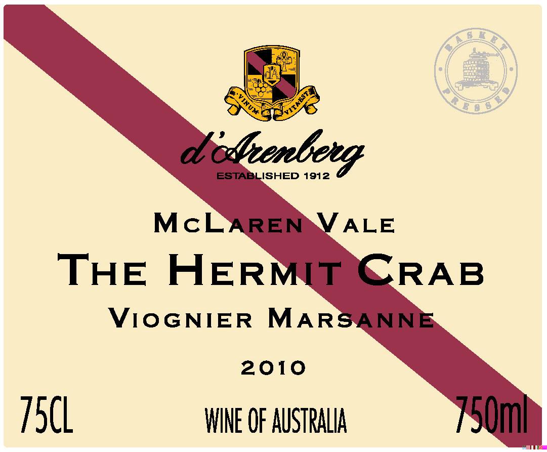黛伦堡寄居蟹维欧涅玛珊干白d'Arenberg The Hermit Crab Marsanne Viognier