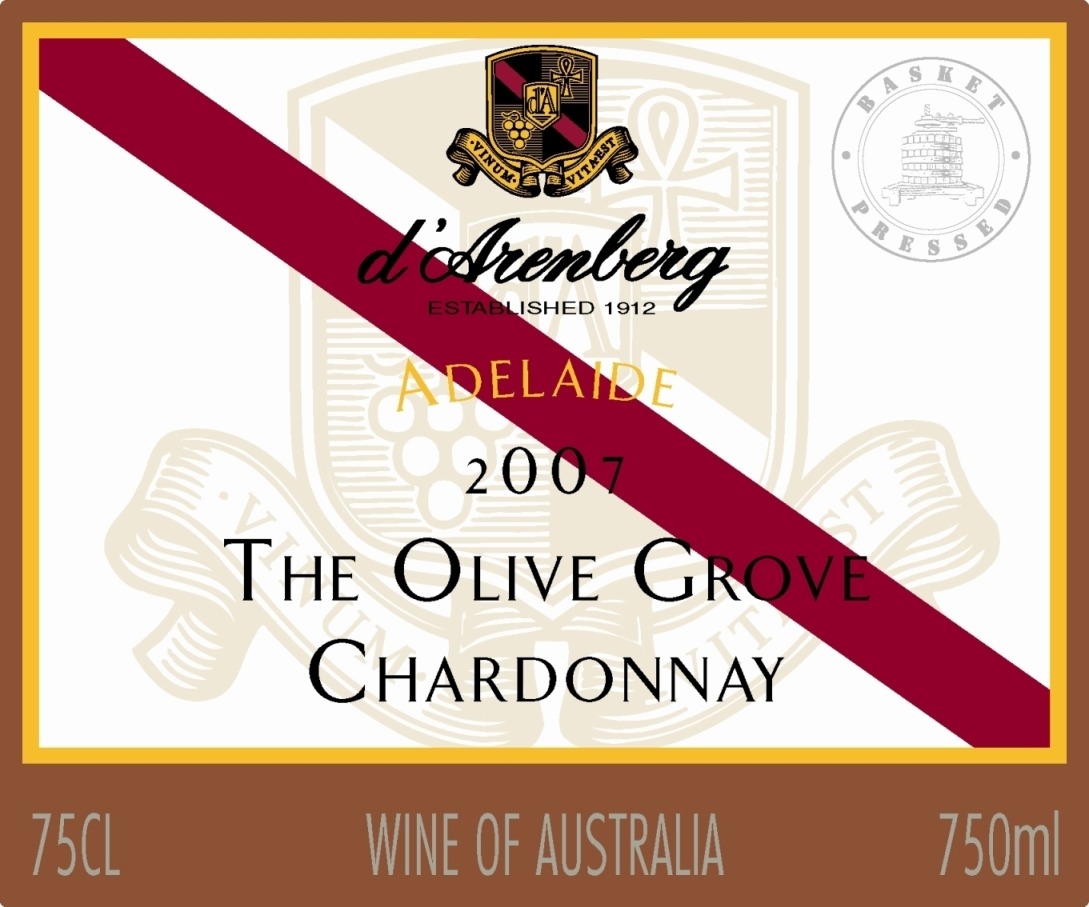 黛伦堡橄榄林霞多丽干白d'Arenberg The Olive Grove Chardonnay
