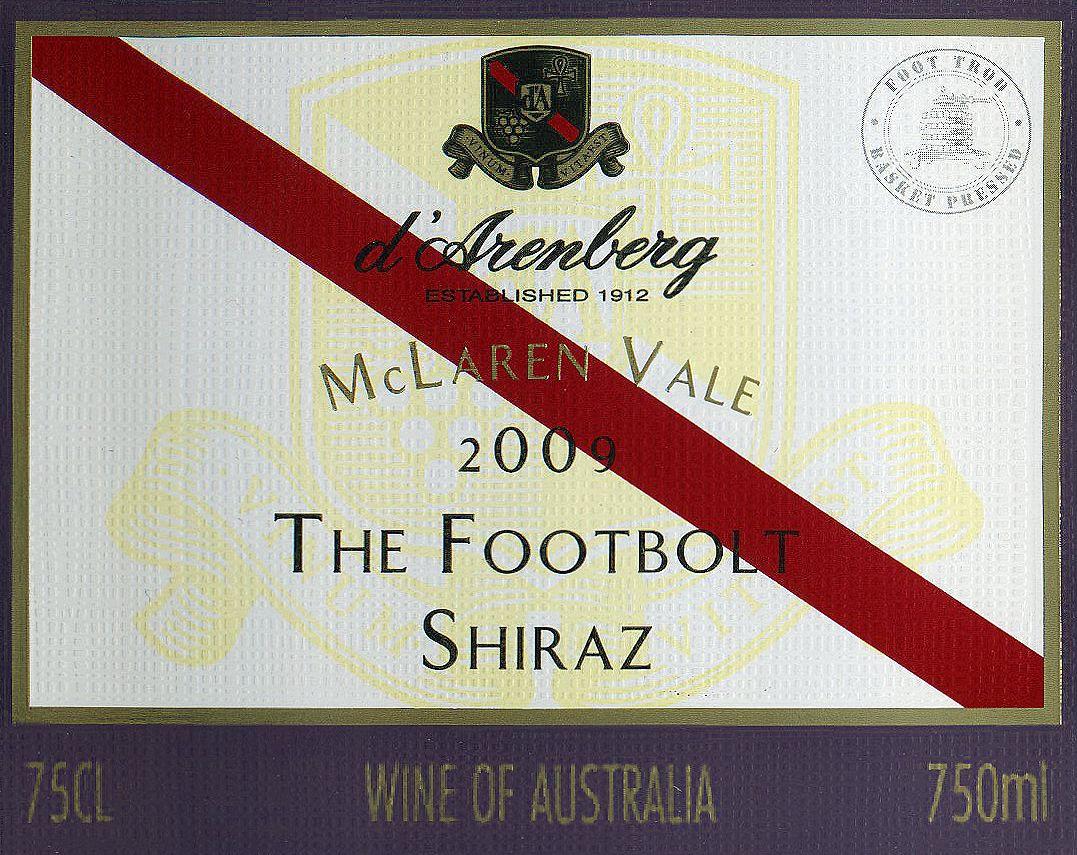 黛伦堡闪电设拉子干红d'Arenberg The Footbolt Shiraz