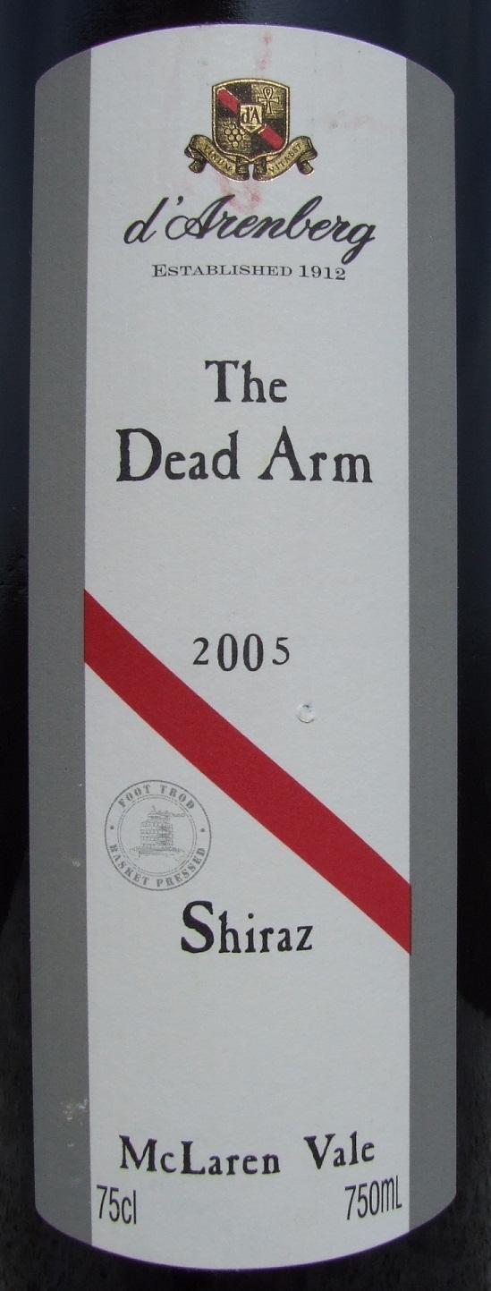 黛伦堡枯藤设拉子干红d'Arenberg The Dead Arm Shiraz