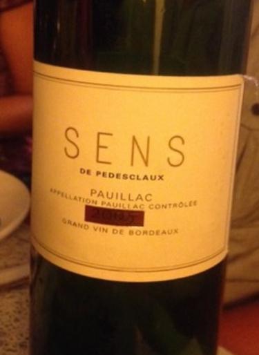 百德诗歌酒庄副牌干红Chateau Pedesclaux Sens de Pedesclaux