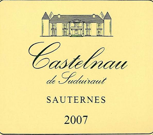 绪帝罗卡斯特尔诺甜白Castelnau de Suduiraut