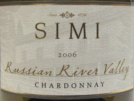 思美俄罗斯河谷霞多丽干白Simi Russian River Valley Chardonnay