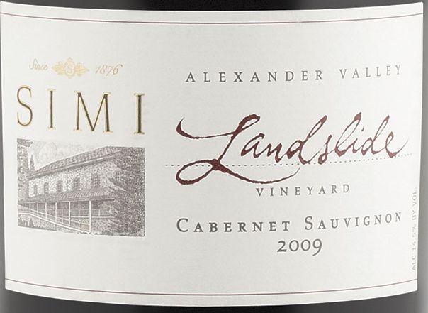 思美山脊园赤霞珠干红Simi Landslide Vineyard Cabernet Sauvignon