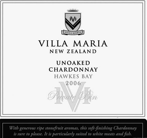 新玛利珍匣霞多丽干白Villa Maria Private Bin Unoaked Chardonnay