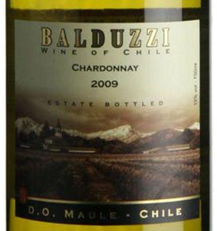 豪华碧桃丝霞多丽干白Balduzzi Chardonnay