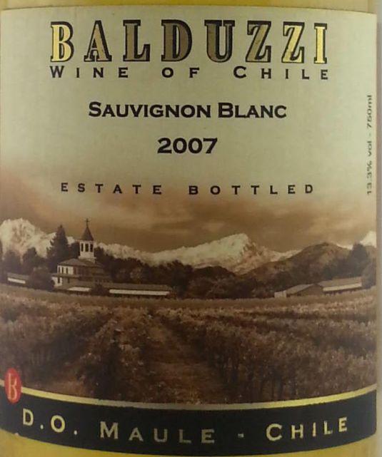 豪华碧桃丝长相思干白Balduzzi Sauvignon Blanc