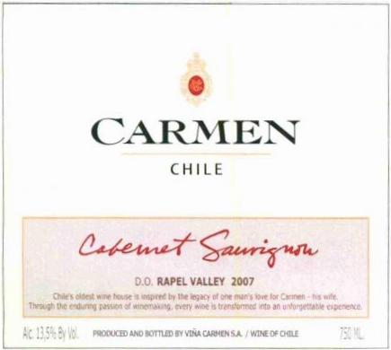 卡门探索赤霞珠干红Carmen Cabernet Sauvignon